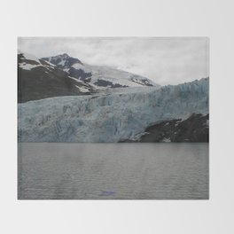 TEXTURES -- A Face of Portage Glacier Throw Blanket