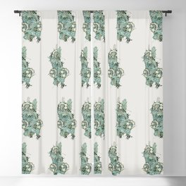 Woven fabric design - Anemone (1876) by William Morris. Finest American art. Blackout Curtain