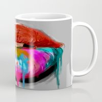 kiss Mugs featuring Kiss by Tetevi Teteh