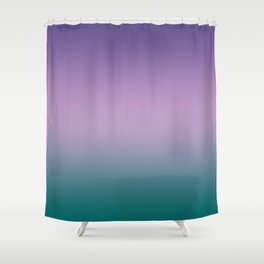 Ultra Violet Lilac Quetzal Green Gradient Pattern Shower Curtain