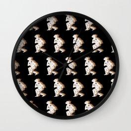 Space Cowboy - Black, white & camel Wall Clock