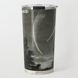 Comets in the Night Sky, including Halley's Comet (1835) and Donati's Comet (1858) Travel Mug