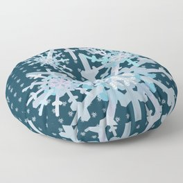 Moose in the Snow and Trees Floor Pillow