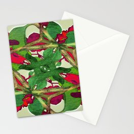 Floral Print Colorful Pattern Stationery Cards