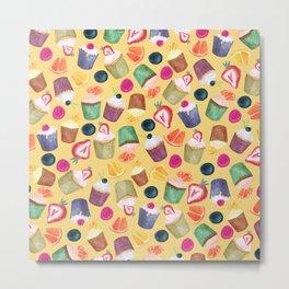 Exotic Cupcake Pattern Metal Print