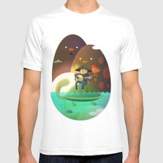 Island Lullaby White Mens Fitted Tee SMALL