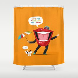 Put A Smile On Shower Curtain