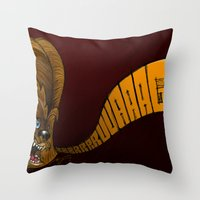 chewbacca Throw Pillows featuring Chewbacca by alexviveros.net