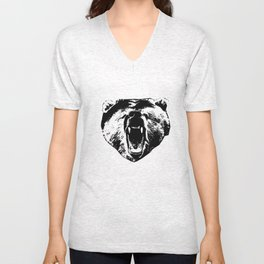 Bear Face Unisex V-Neck