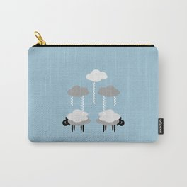 Wooly weather - Sheep Rain Clouds Carry-All Pouch