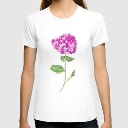 purple hydrangea T-shirt
