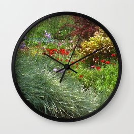 Monet's Garden Wall Clock