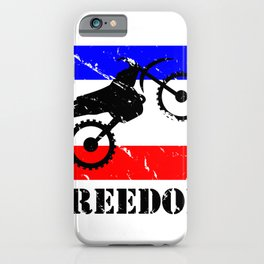 FREEDOM! Dirt bike iPhone Case