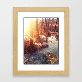 Sun and Ice Framed Art Print