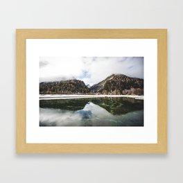 Reflections of Slovenia. || Misty Lake and Mountains. || Alps. || Horizontal Wall Art. || Kranjska Framed Art Print