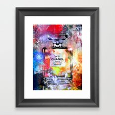 No 5 Painted Framed Art Print