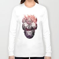 murray Long Sleeve T-shirts featuring SKULL by Ali GULEC