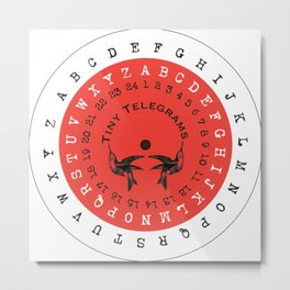 Tiny Telegrams Cipher Wheel Metal Print