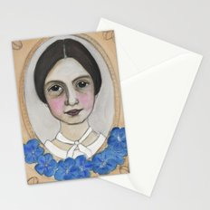 Emily Dickinson and the Geranium Blues Stationery Cards