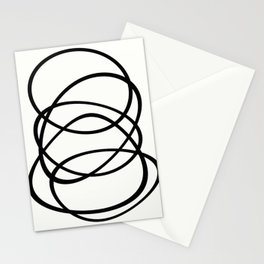 Come Together - Black and white, minimalistic, abstract, art print Stationery Cards