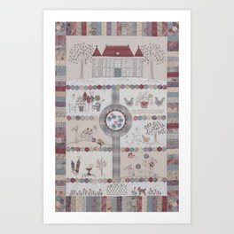 Chateau Hexagon Art Print