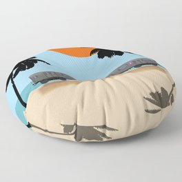 Palm Subway Floor Pillow