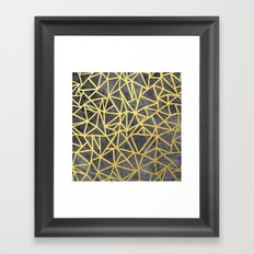 Ab Marb Gold Framed Art Print