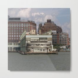 NY Marine and Aviation Building Metal Print