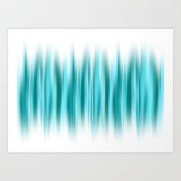 WARP SPEED | teal Art Print