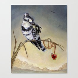 King of Hearts (Bird) Canvas Print
