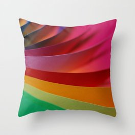 Colorful Modern Rainbow Bright Papers Cool Photo Throw Pillow