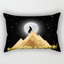 Wolf Night Rectangular Pillow