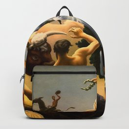 The Fruited Plain, Achelous and Hercules Mural Panel 3 landscape painting by Thomas Hart Benton Backpack