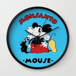 Monsanto Mouse Wall Clock