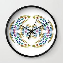 Wings yellow Wall Clock