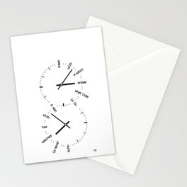 Two Watches Stationery Cards