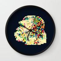 8bit Wall Clocks featuring Ape 8bit by jnk2007