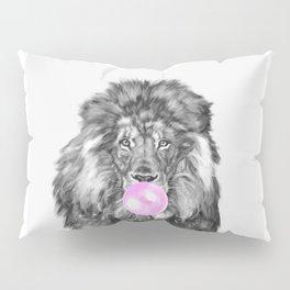 Bubble Gum Lion Black and White Pillow Sham