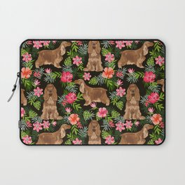 Cocker Spaniel hawaiian tropical print with dog breeds cocker spaniels Laptop Sleeve