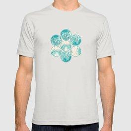 Cyan Tropical Coins #society6 #decor #buyart T-shirt