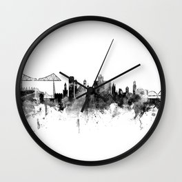 Middlesbrough England Skyline Wall Clock