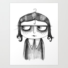 Little Girl with a Curl Art Print