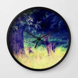 Morning in the Meadow Wall Clock