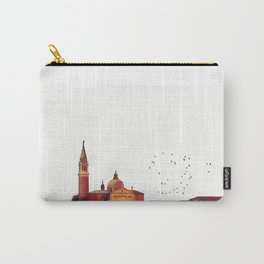 Soft watercolor sunset with views of San Giorgio island, Venice, Italy. Carry-All Pouch