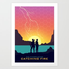 Catching Fire (Dawn Version) Art Print