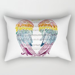 I Am Here ( Rainbow Angel Wings ) Rectangular Pillow