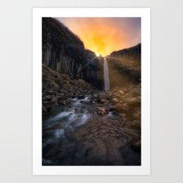 Svartifoss (RR155) Art Print