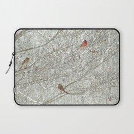 Cardinal Trio in the Snow Laptop Sleeve