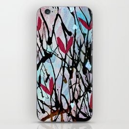 Blown Ink Painting Collage iPhone Skin