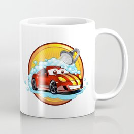 Funny cartoon Car wash  Coffee Mug